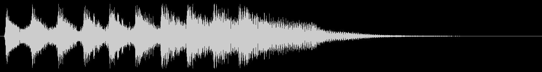 8bit 残念ゲームオーバー ピコピコ音の未再生の波形