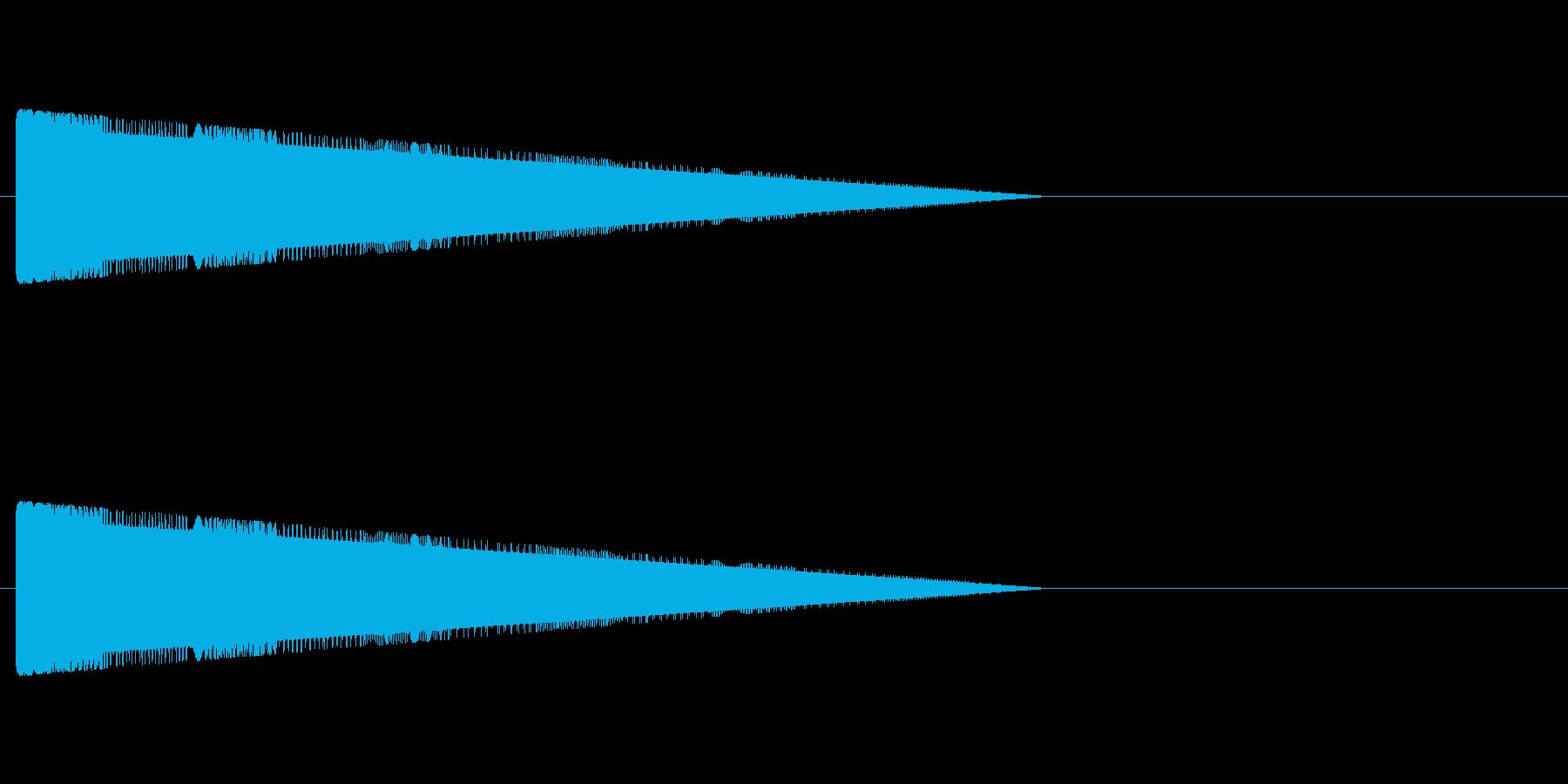 レトロゲーム風・コミカルな音#4の再生済みの波形