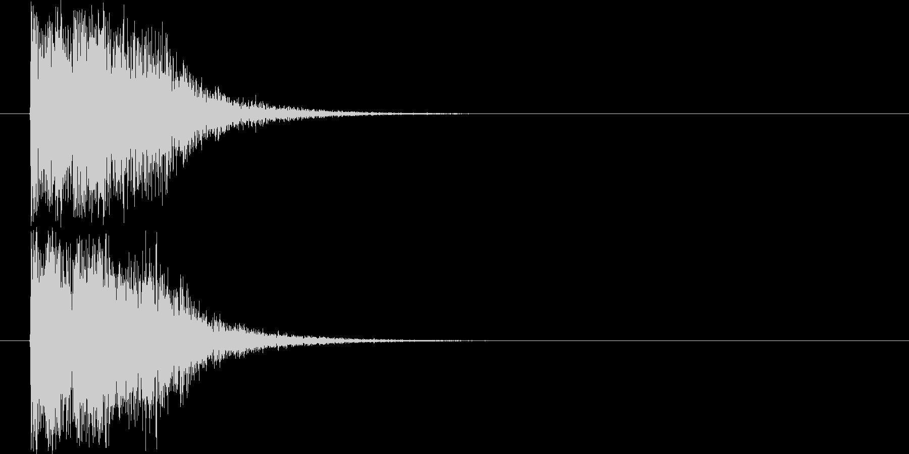 汎用オケヒット_ジングルの未再生の波形