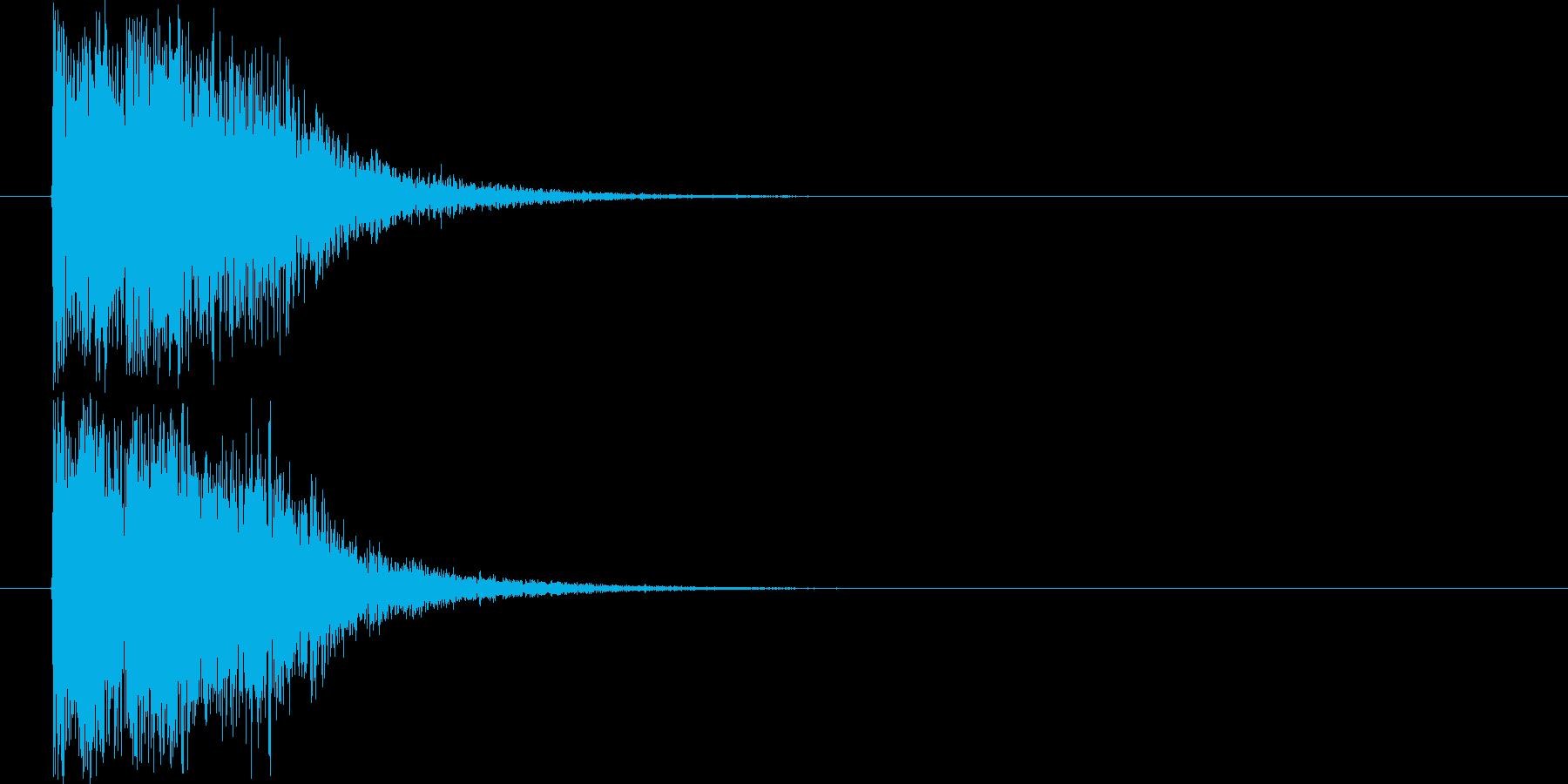 汎用オケヒット_ジングルの再生済みの波形