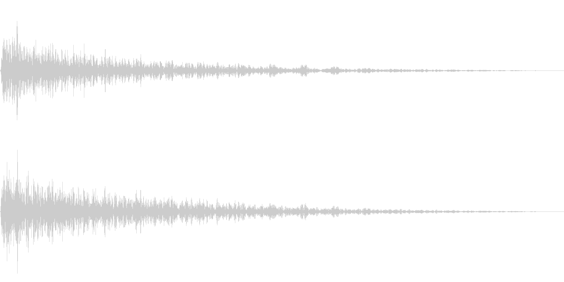 ガーン(残念な描写に合うピアノ)の未再生の波形