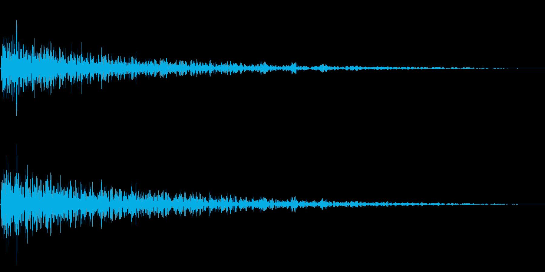 ガーン(残念な描写に合うピアノ)の再生済みの波形