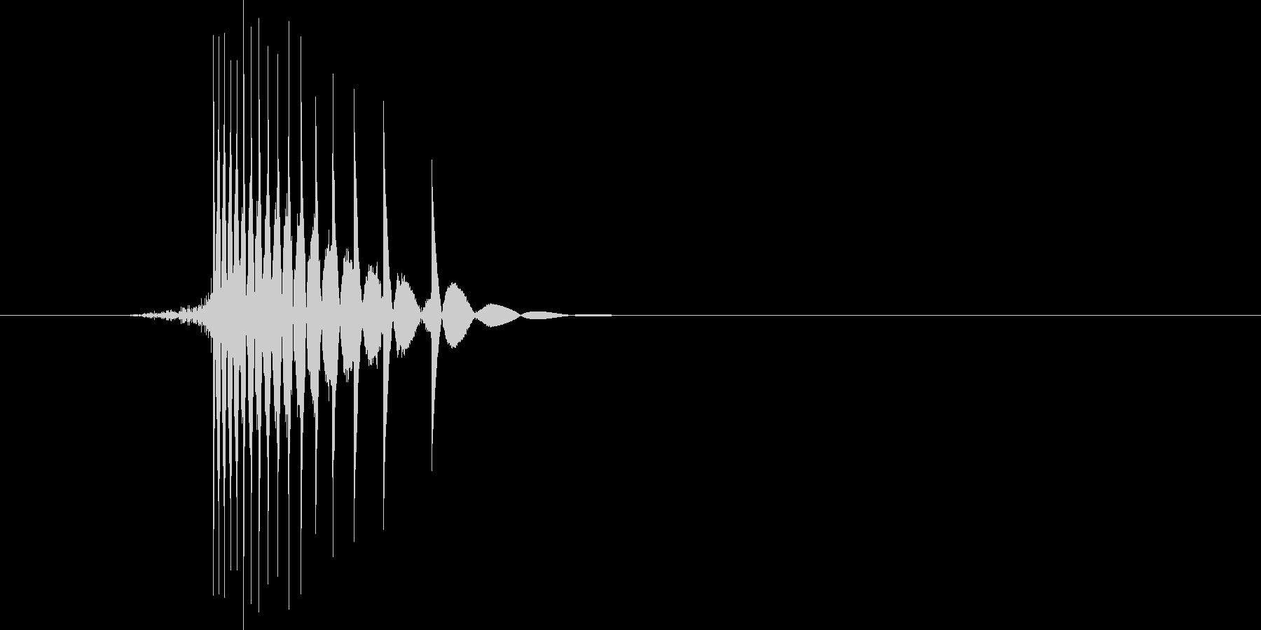 ゲーム(ファミコン風)ヒット音_026の未再生の波形