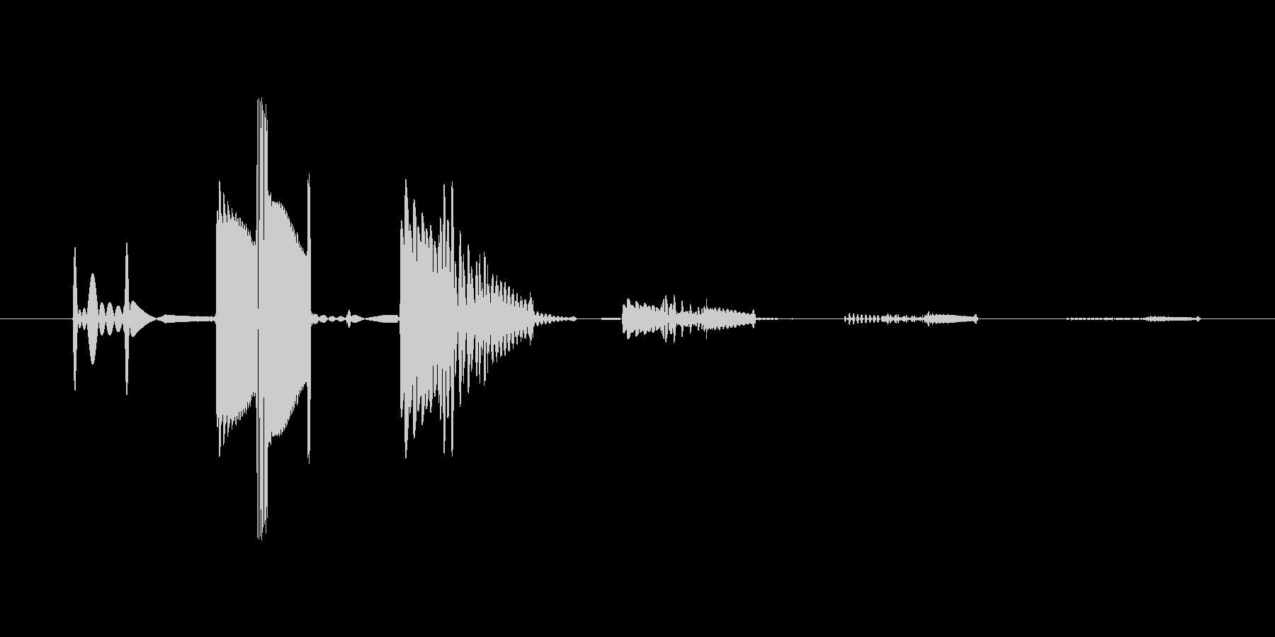 ボタン音5  アナログシンセ 使用の未再生の波形