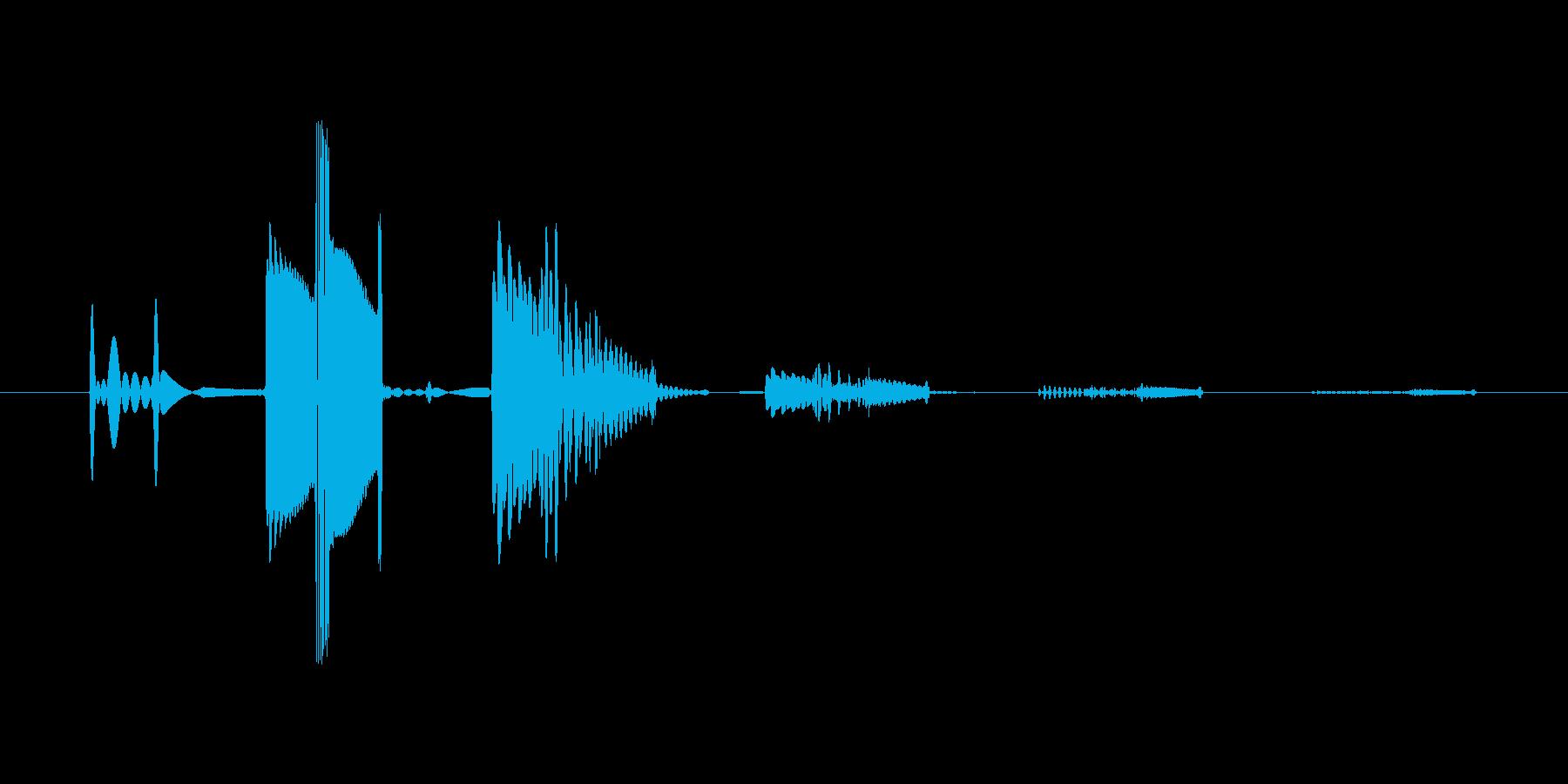 ボタン音5  アナログシンセ 使用の再生済みの波形