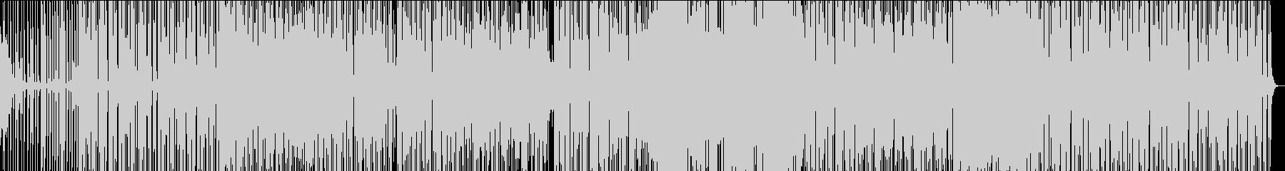 明るくオシャレなエレクトロニックな楽曲の未再生の波形
