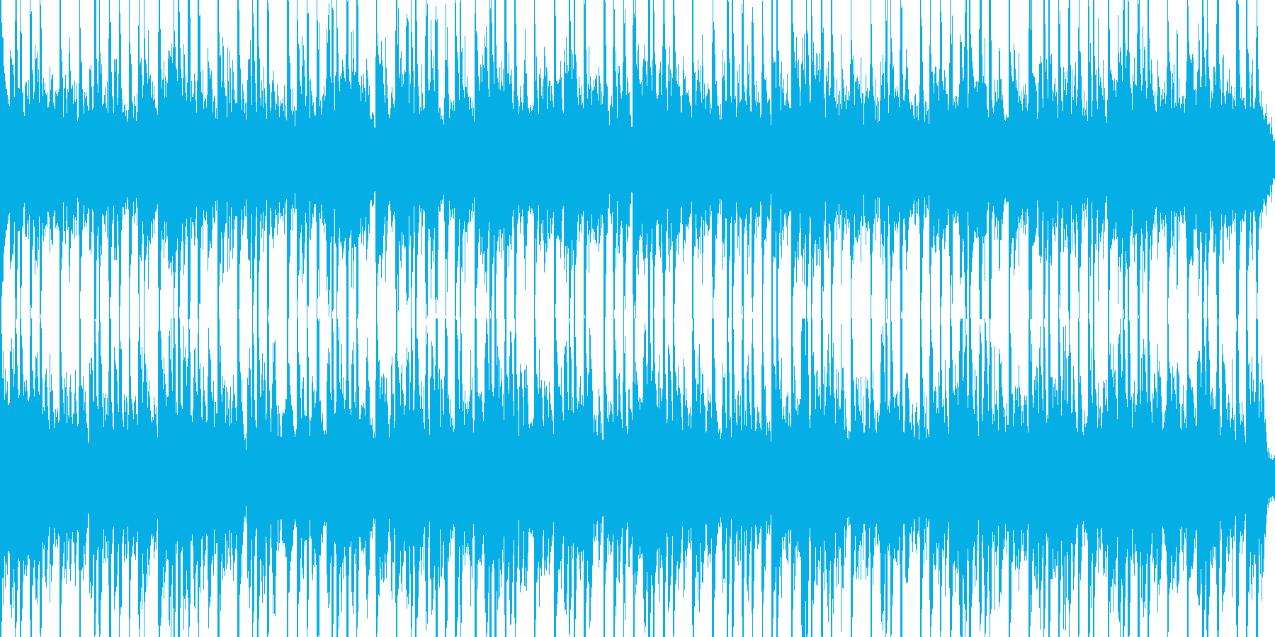 テクノな音楽で考え中な感じの時にの再生済みの波形