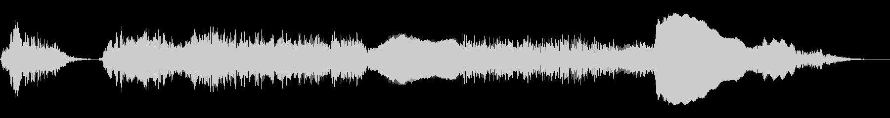 ニワトリの鳴き声(コケコッコー)の未再生の波形