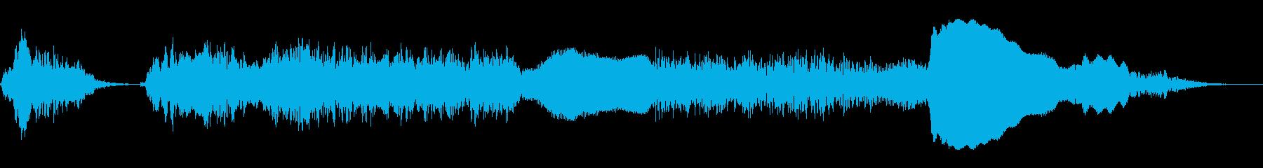 ニワトリの鳴き声(コケコッコー)の再生済みの波形
