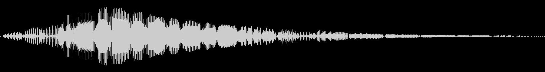 ピッ(カーソル/選択/ボタン)の未再生の波形