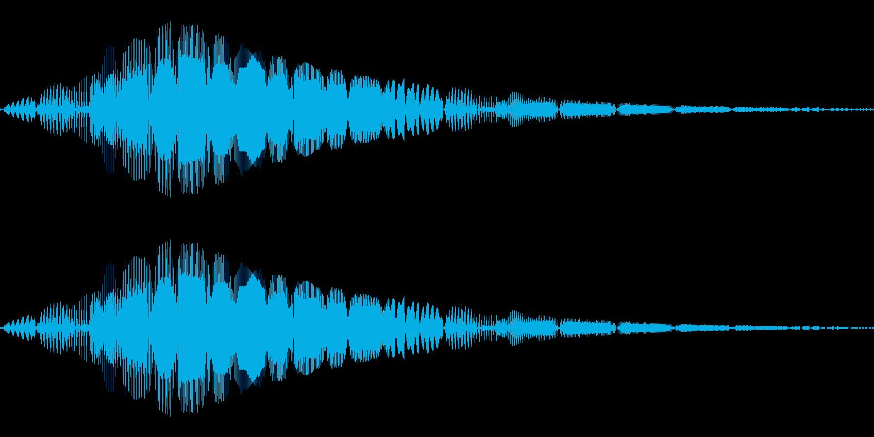 ピッ(カーソル/選択/ボタン)の再生済みの波形