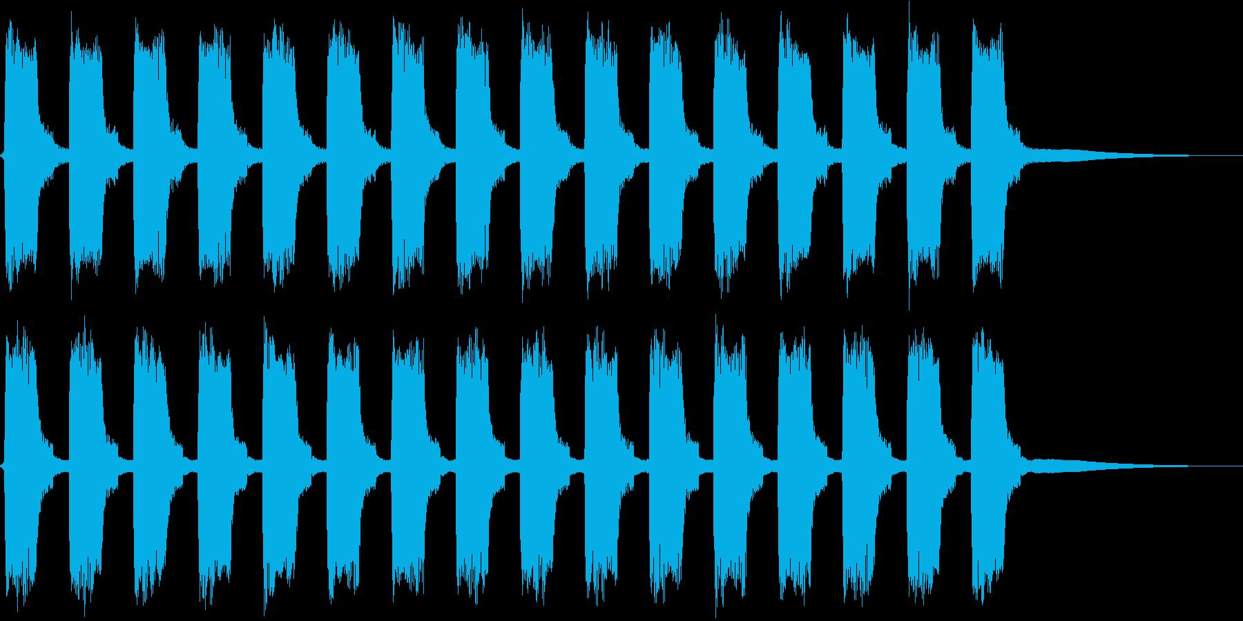ビービー…。緊急事態の警報音D(長)の再生済みの波形