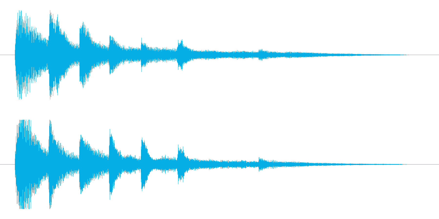【響きのために2】の再生済みの波形