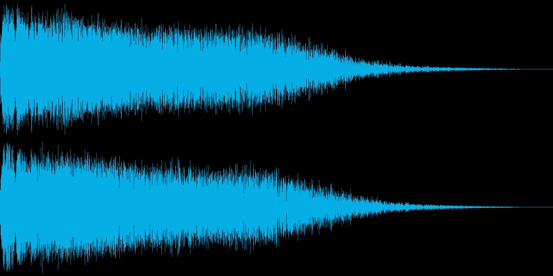 モンスターを倒した時の音 (消滅音)の再生済みの波形
