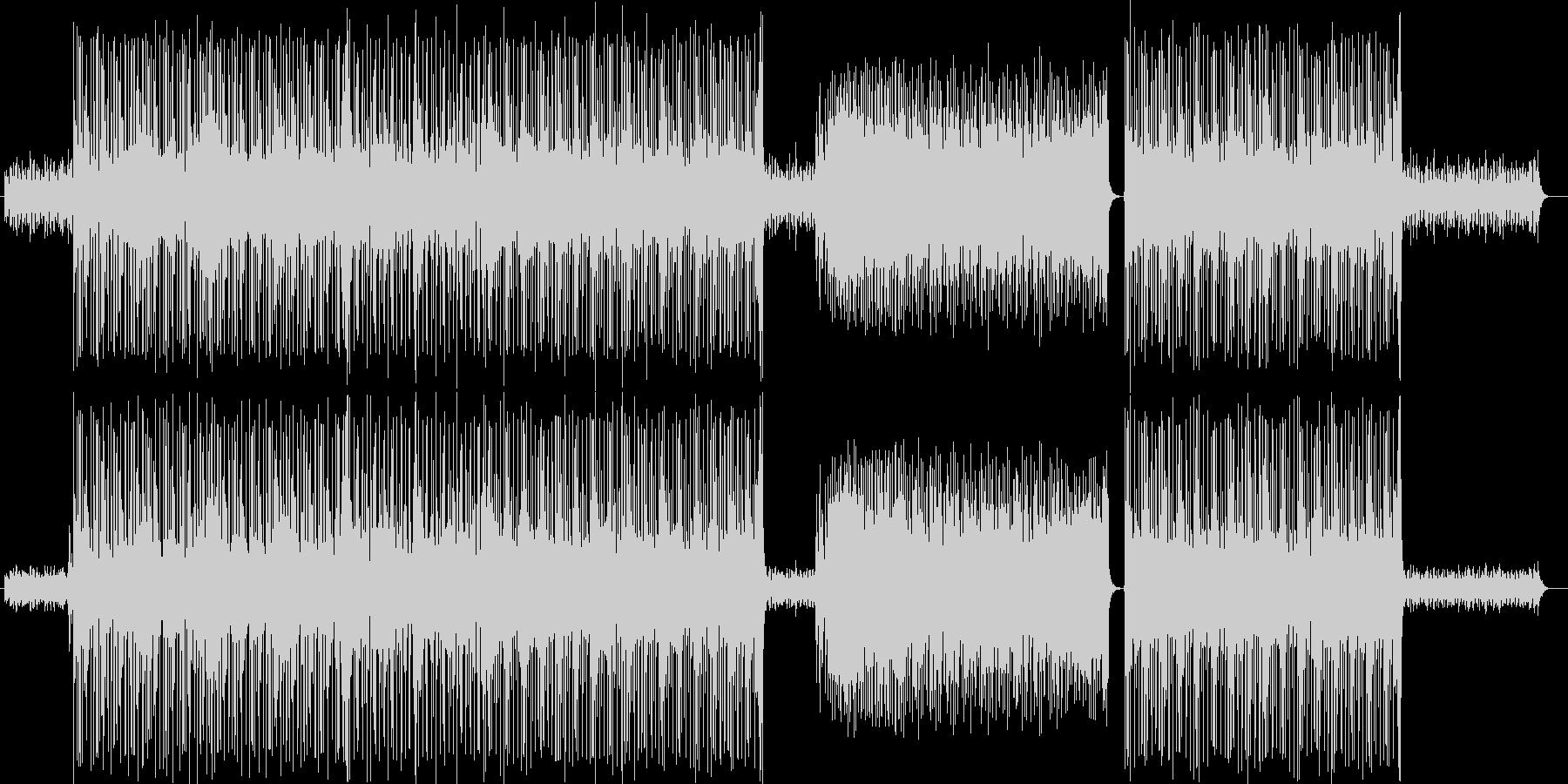 ドキドキ感のシンセサイザーサウンドの未再生の波形