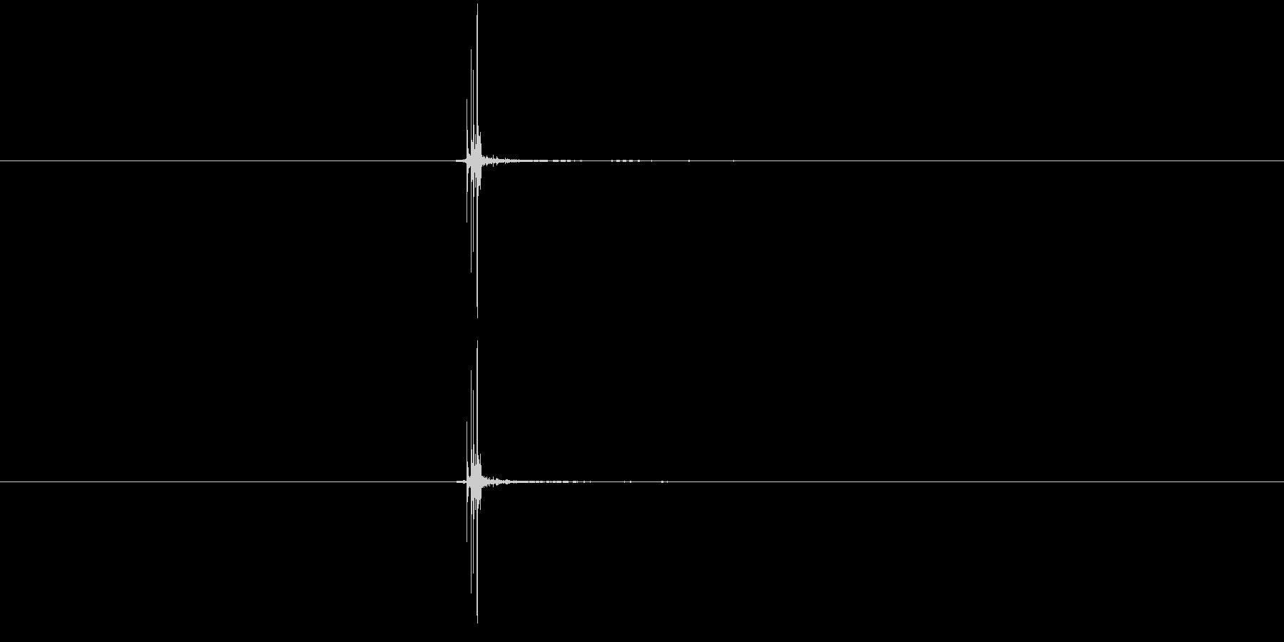 麻雀牌1の未再生の波形