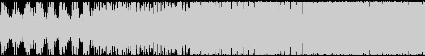 【リズム抜き】サイバーチックなテクノの未再生の波形
