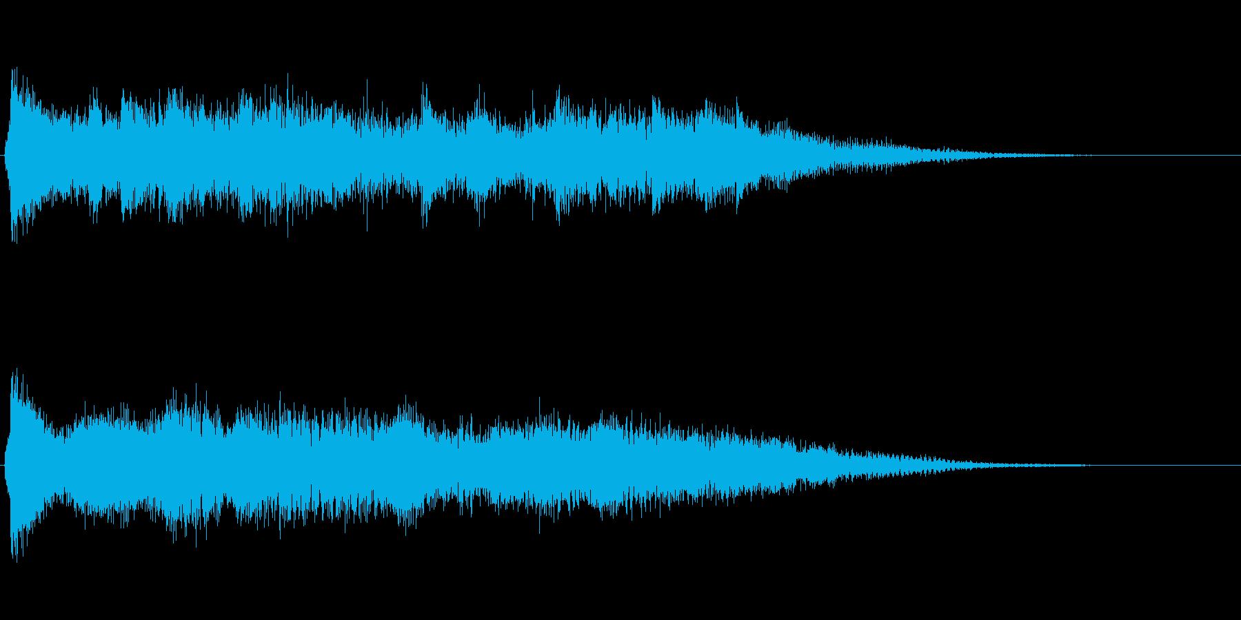 和風_琴系_予告音_01の再生済みの波形