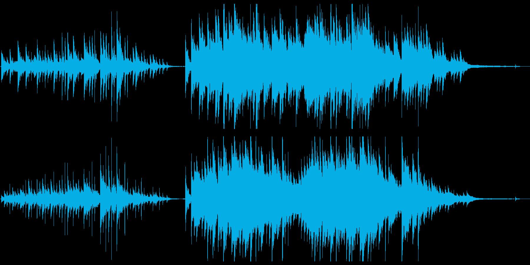 優しく感情的なピアノの再生済みの波形