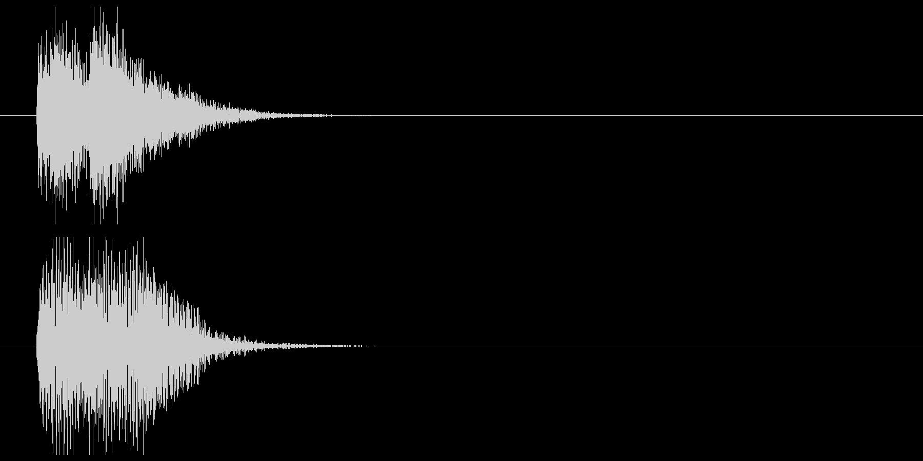 インパクトあるサスペンス風ジングルの未再生の波形