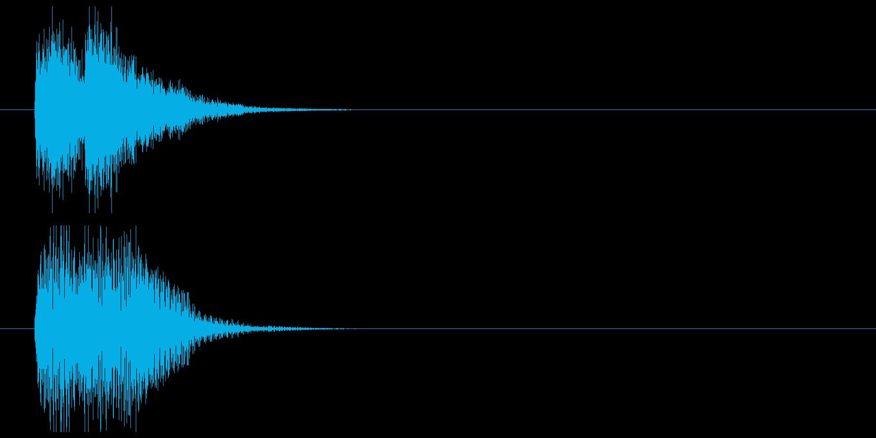 インパクトあるサスペンス風ジングルの再生済みの波形