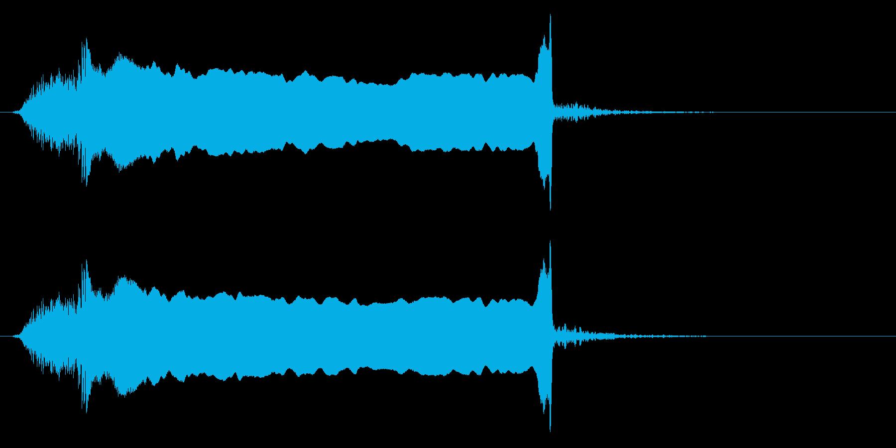 「ィヨーオーー」歌舞伎や狂言の掛け声FXの再生済みの波形