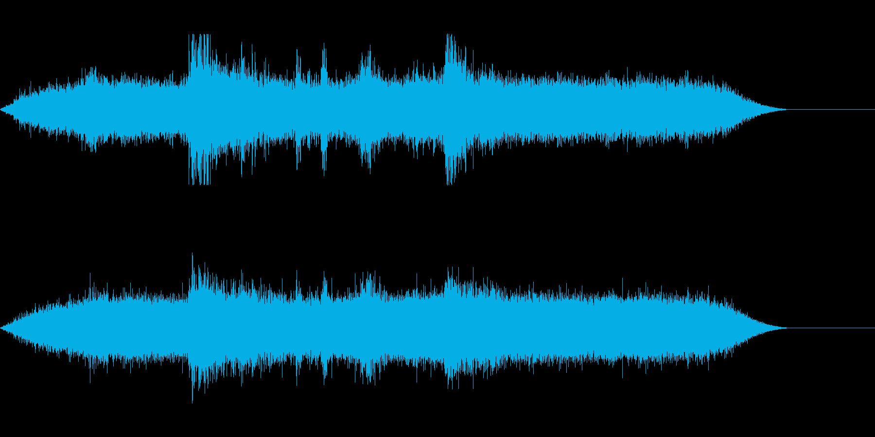 雷雨の再生済みの波形