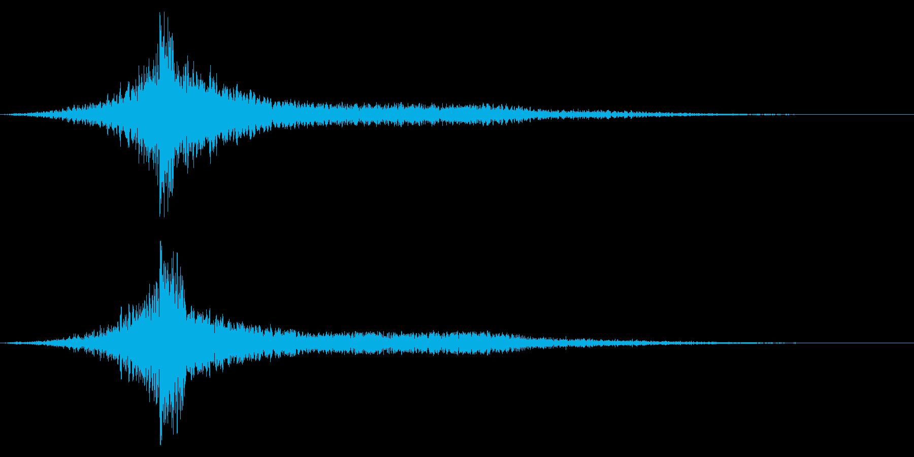 ホラー系アタック音57の再生済みの波形