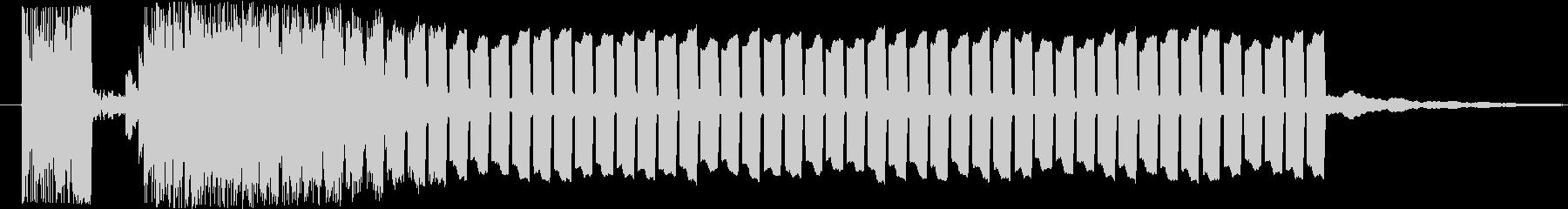 抽選スタート♪の未再生の波形