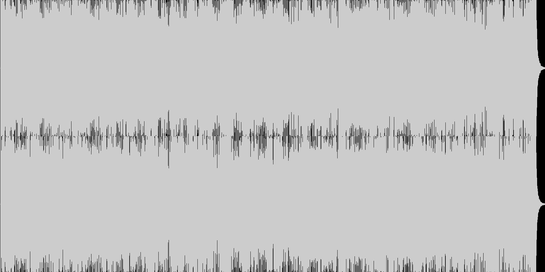 スリリングなサイバーバトルBGMの未再生の波形