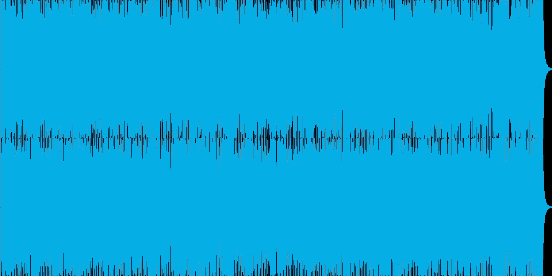 スリリングなサイバーバトルBGMの再生済みの波形