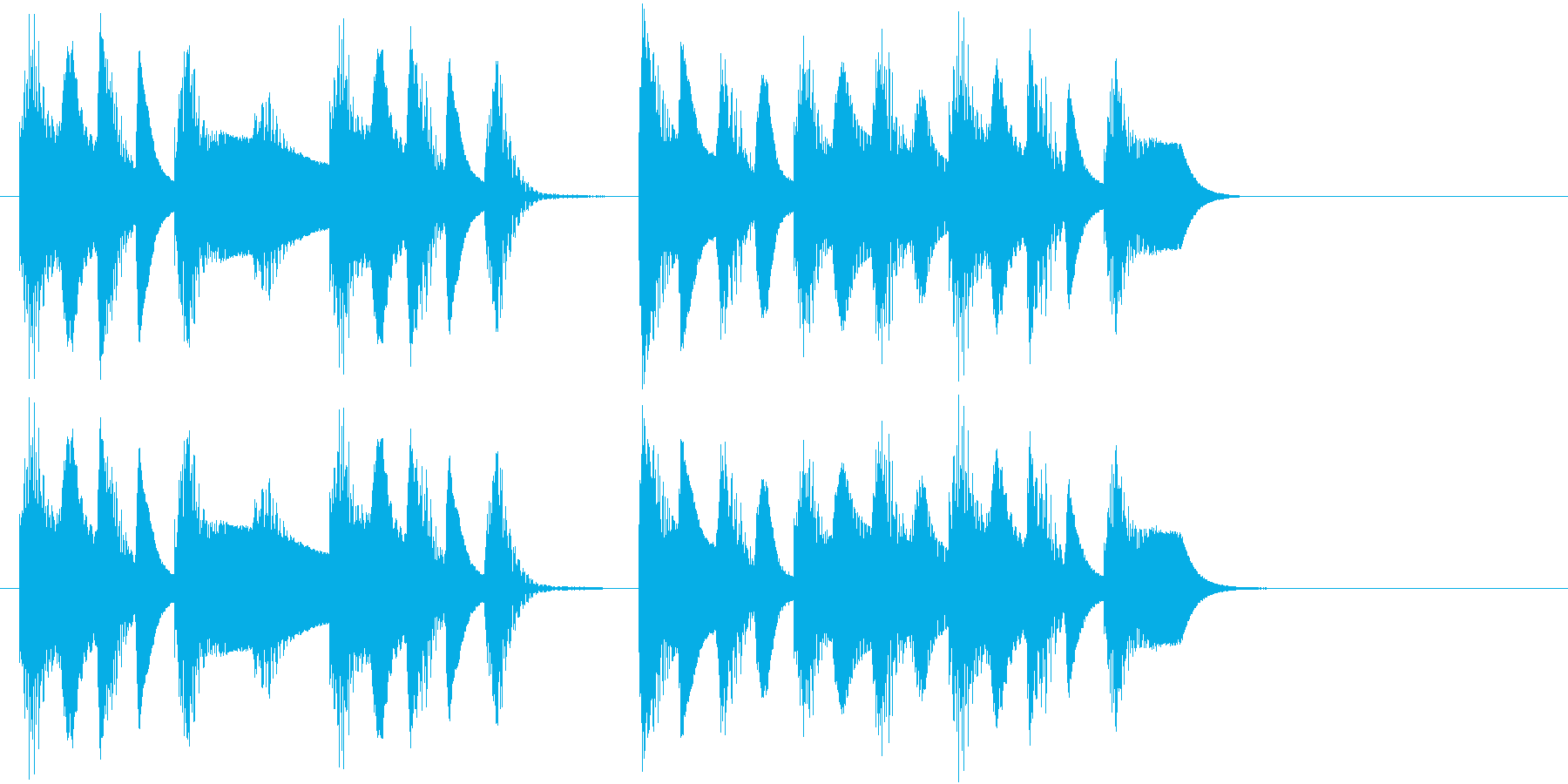 木琴の音でほのぼのとしたジングルの再生済みの波形