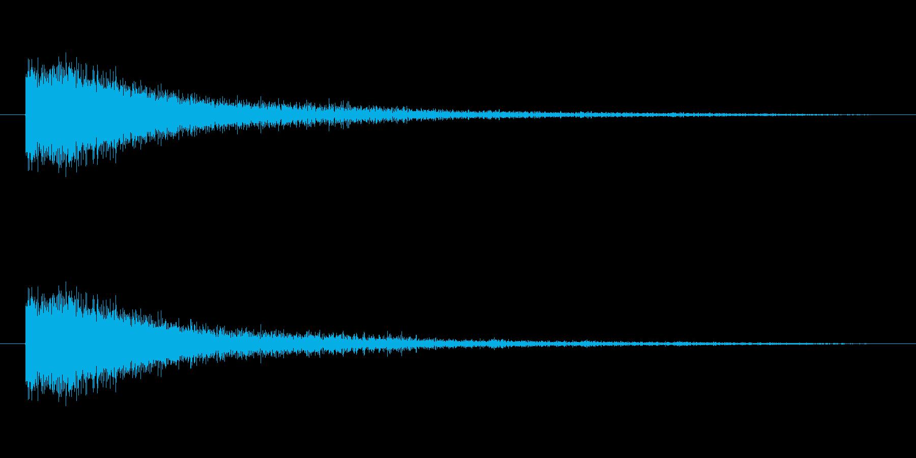 奇妙な風音の再生済みの波形