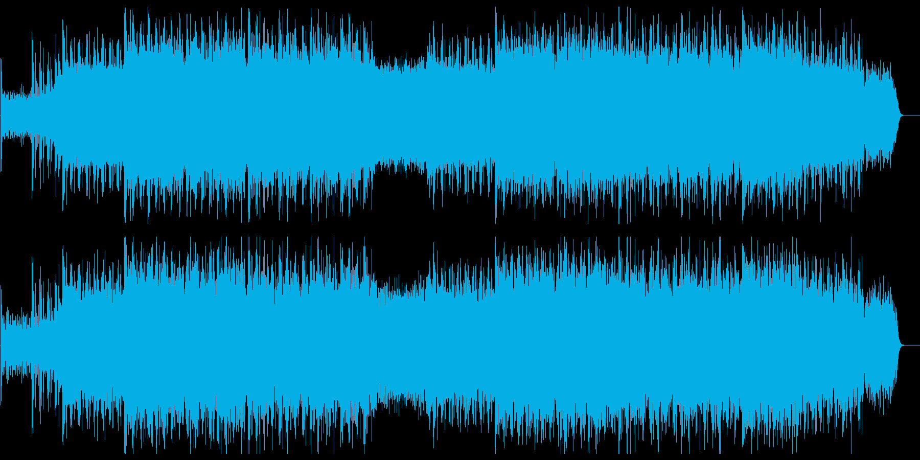 ギターとシーケンサーのデジタルサウンドの再生済みの波形
