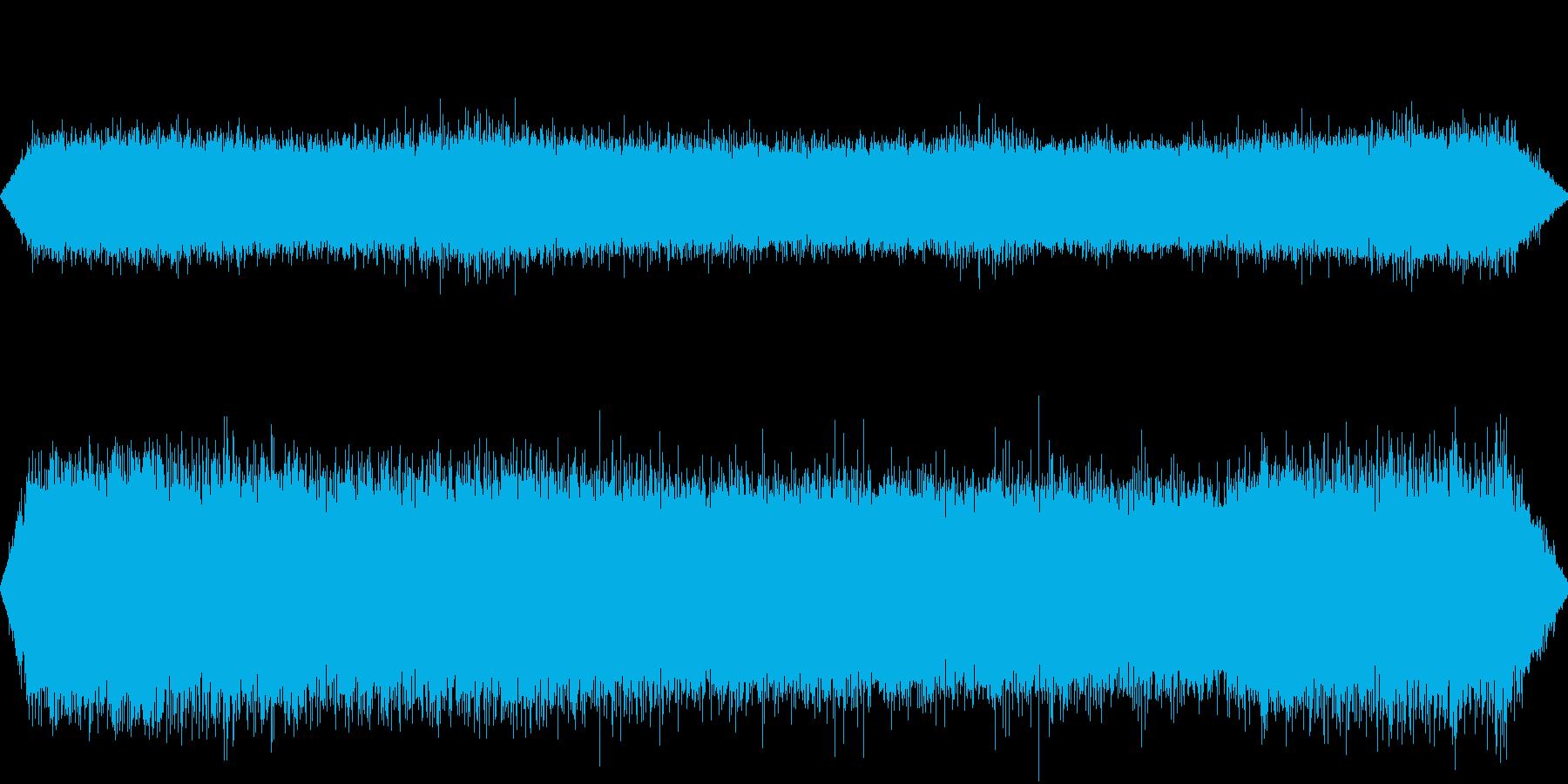 夏の里山の環境音、ヒグラシや鳥等の鳴き声の再生済みの波形