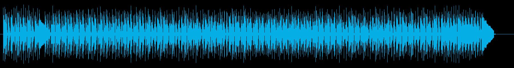 陽気なポップインストの再生済みの波形
