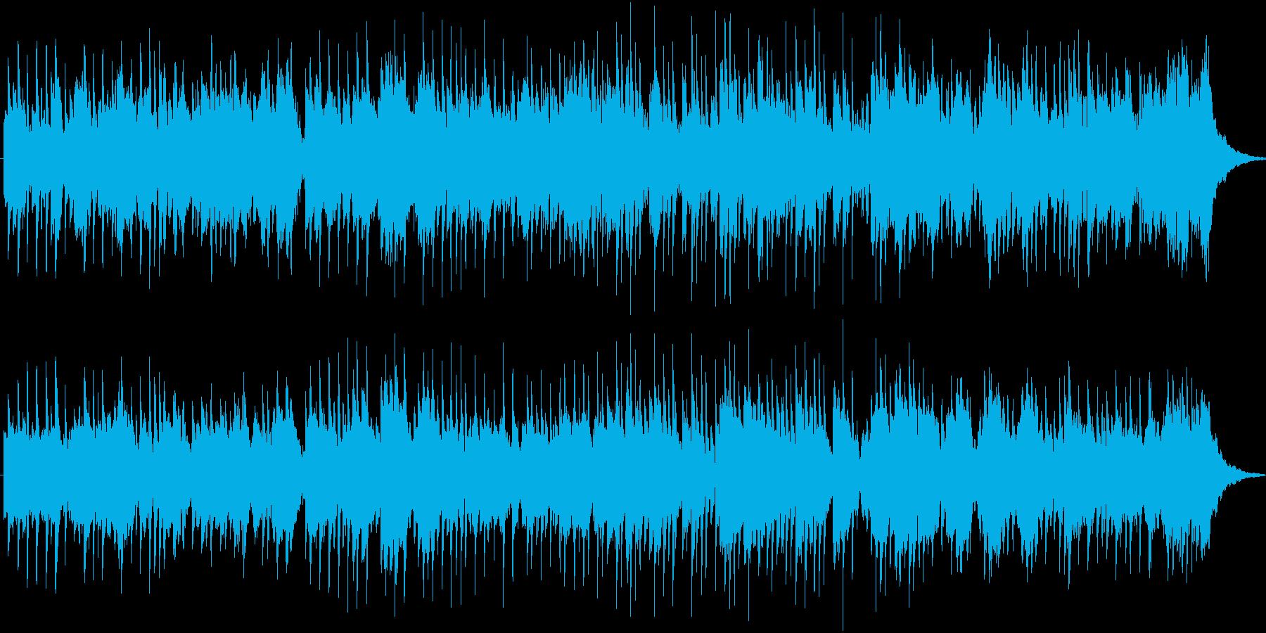 暖かいアルペジオ主体の曲の再生済みの波形
