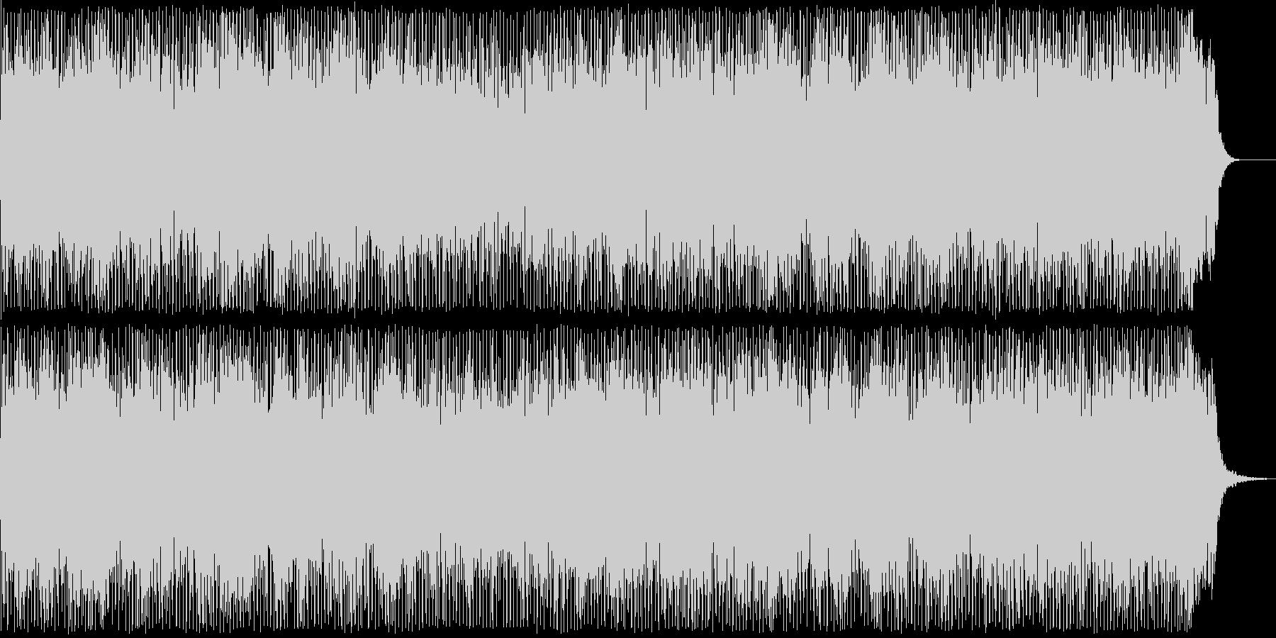 優しい機械音が奏でるテクノポップの未再生の波形