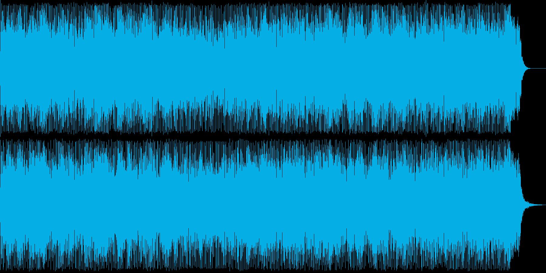 優しい機械音が奏でるテクノポップの再生済みの波形