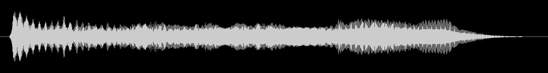 プロペラが回転する音(宇宙、飛ぶ)の未再生の波形