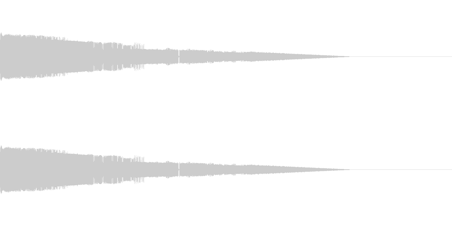 ピュイーン スタート画面の効果音の未再生の波形