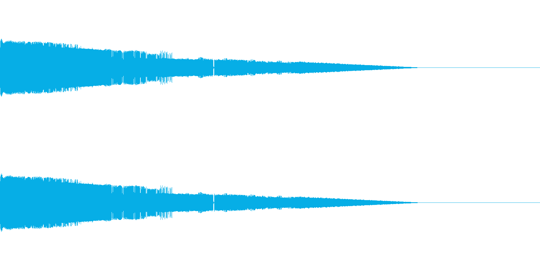 ピュイーン スタート画面の効果音の再生済みの波形