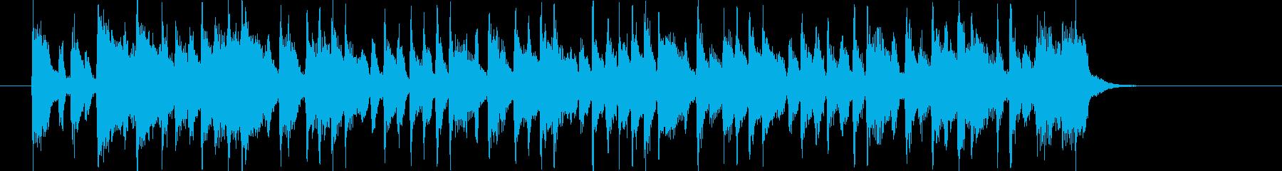 華やかでポップなアップテンポジングルの再生済みの波形