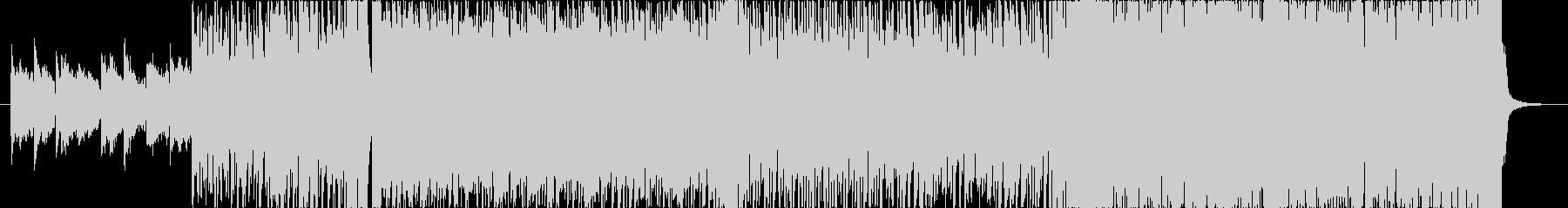 軽快なピアノのエレクトロ・ロックの未再生の波形