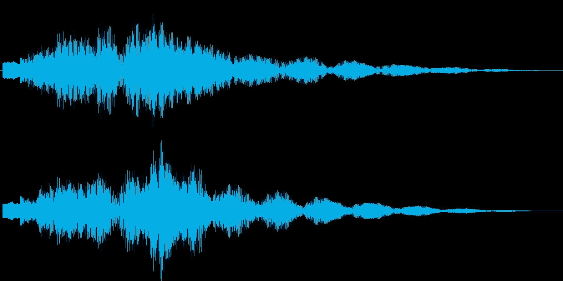 ジングル・お知らせ(シンセ)の再生済みの波形
