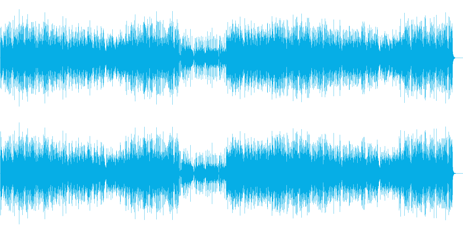 和の楽器を使用したコミカルなBGMですの再生済みの波形