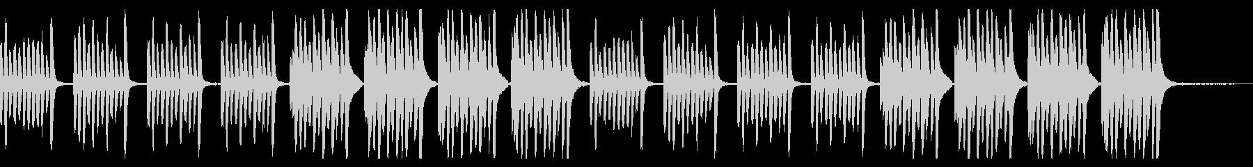 【youtube】ピアノの日常系BGMの未再生の波形