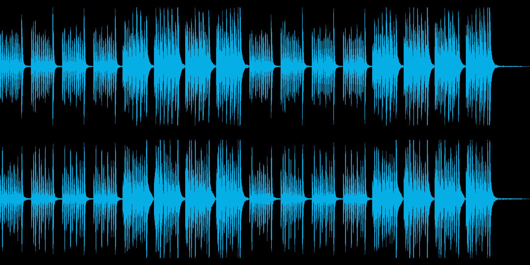 youtube ピアノワクワク系BGMの再生済みの波形