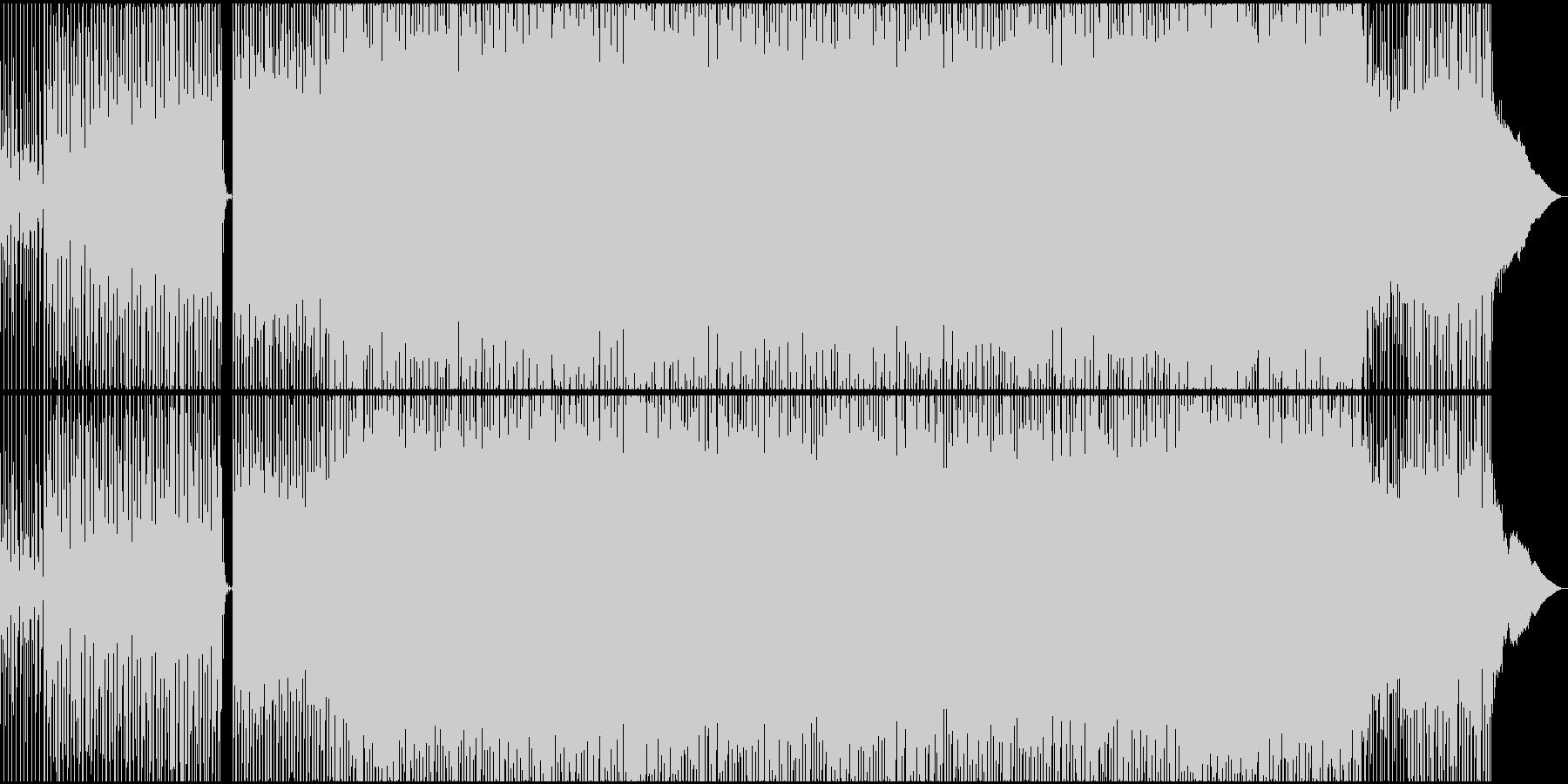 スペイシーなのりの良いテクノの未再生の波形