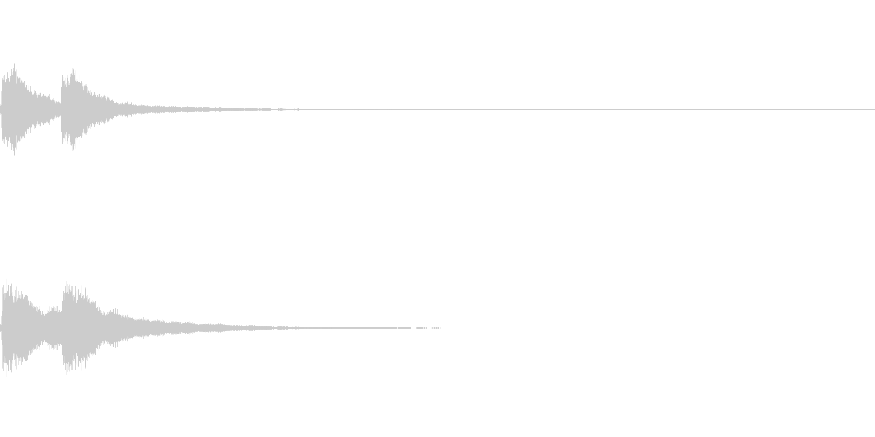 チンチーン:距離感のある卓上ベル二発 の未再生の波形